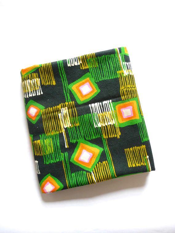 Vintage New 1960s Design Print Fabric Fortuna Fashion Fabric