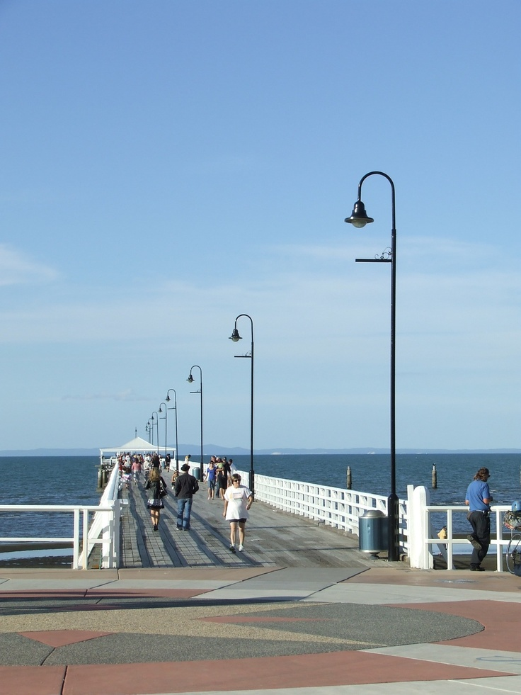 Lamp lights in a row on the Shorncliffe Jetty