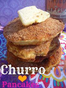 Churro pancakes recepie. Otherworldly delicious!