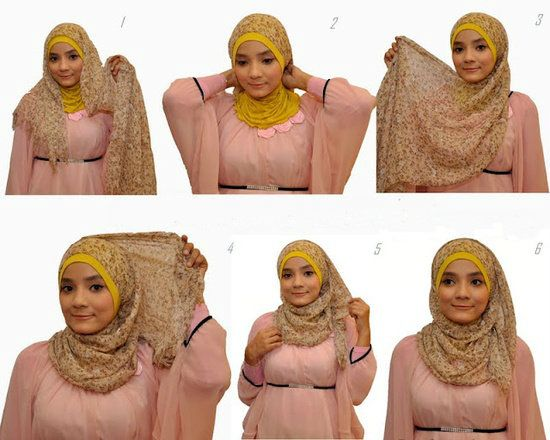 7 NEW Hijab Tutorial Pictures for Daily Wear, Parties, Evening, Modern Look ect 06f37efd9f3293fcb2537d9930495512