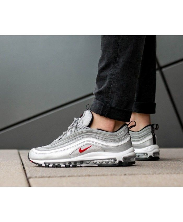 free shipping 036b0 3f61b Authentic Nike Air Max 97 OG QS Silver Bullet Trainers Sale UK