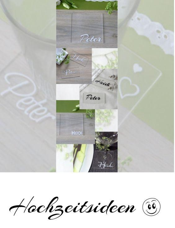 Mit Den Acrylschildern Vervollstandigt Ihr Die Hochzeitsdeko Eure