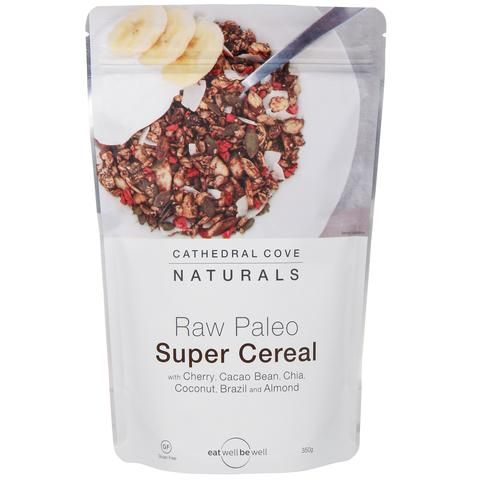 Raw Paleo Super Cereal with Cherry and Cacao Bean 350g