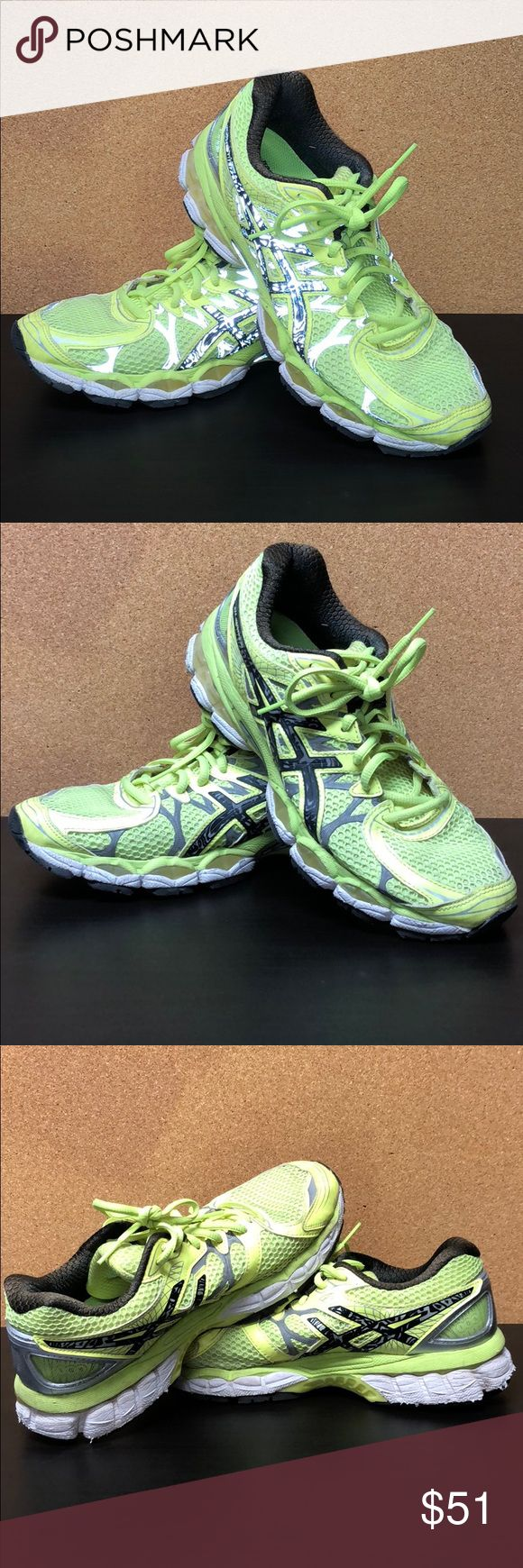 ASICS gel nimbus 16 neon running shoes ASICS gel nimbus 16 neon running shoes, phenomenally comfortable to run in, reflective at night, very good condition! Will wash before shipment! Asics Shoes Sneakers
