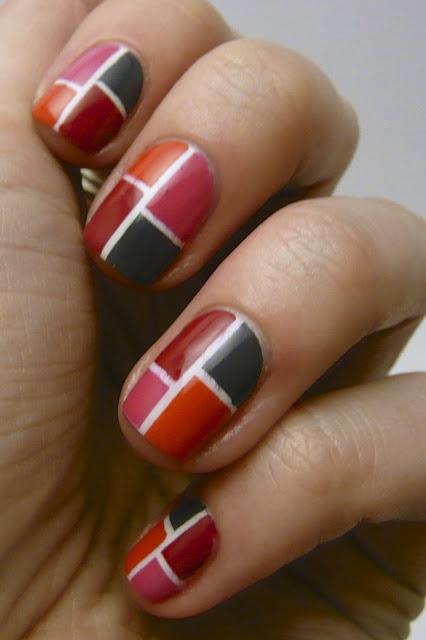 Decorative square nail pattern nails pinterest for Decorative nails