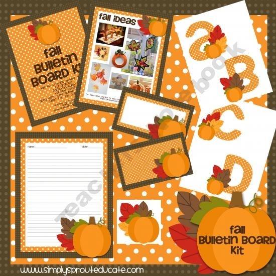 Printable Fall Classroom Decorations ~ Fall ideas for classroom teachers bulletin boards