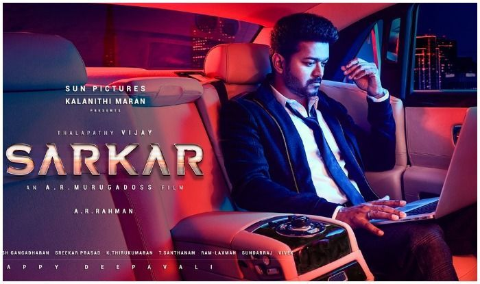 Image Result For Sarkar First Look Poster Download Hd Tamil Songs Lyrics Movie Songs Political Thriller