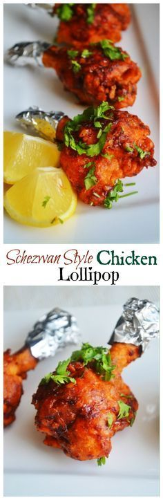 An Indo-Chinese style chicken lollipop. Spicy, sweet, tangy, flavourful, and super delicious.