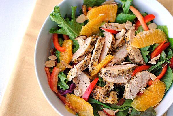 Eat Yourself Skinny!: Grilled Honey-Orange Chicken Salad