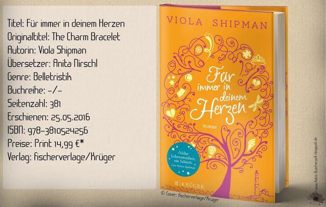 """""""Für immer in deinem Herzen"""" von Viola Shipman erzählt über über eine beginnende Demenz, über das Leben, Liebe und inniger Freundschaft. Eine grandiose Geschichte, die das Herz berührt und dem Wunsch weckt nach einem ebensolchen bezaubernden Armband der Vergangenheit. ~ wahre Freundschaft ~ das Leben ~ die unumgängliche Vergangenheit ~ poetisch ~ berührend"""