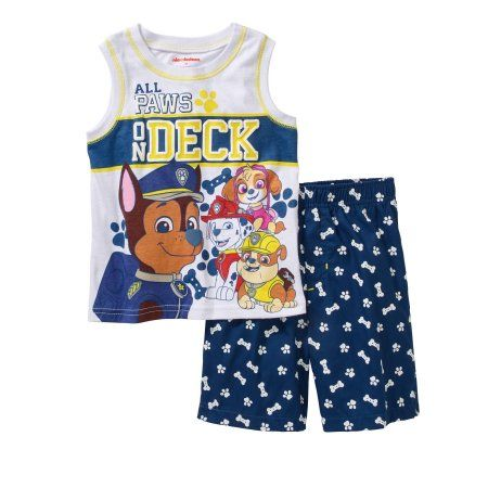 Paw Patrol Toddler Boys Graphic Tank Top and Shorts Outfit Set