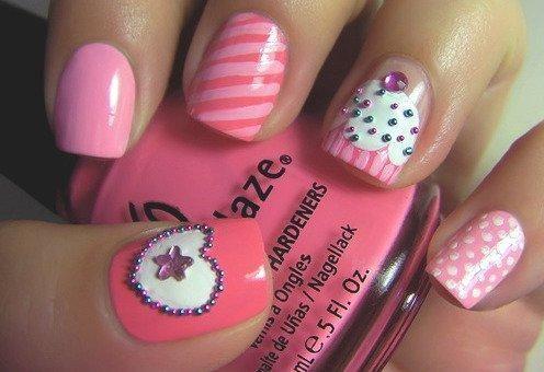 cupcake nail designs: Pink Cupcake, Cupcake Rosa-Choqu, Nails Art, Nailart, Cute Nails, Nails Design, Pink Nails, Nailsart, Cupcake Nails