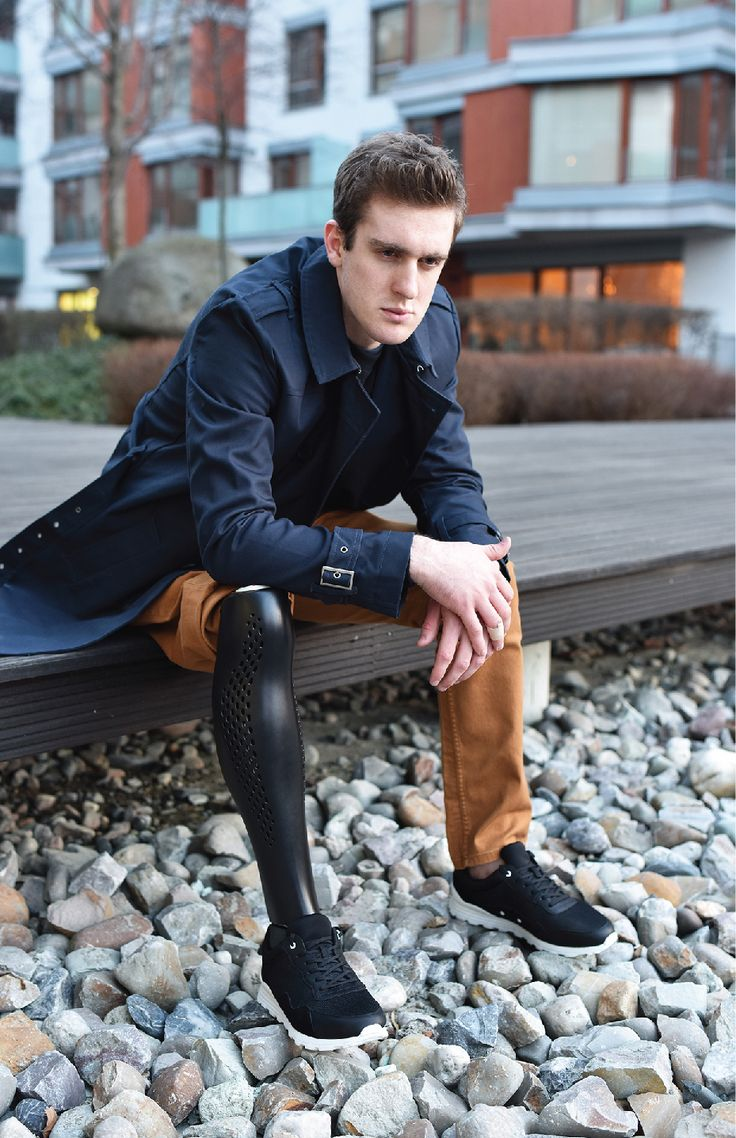 Beautifully crafted 3D printed prosthetic leg cover in the form of athletic leg muscles