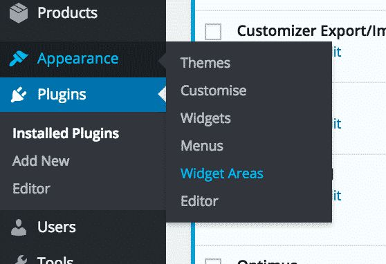 Add a Widget Area to have different sidebars on different pages