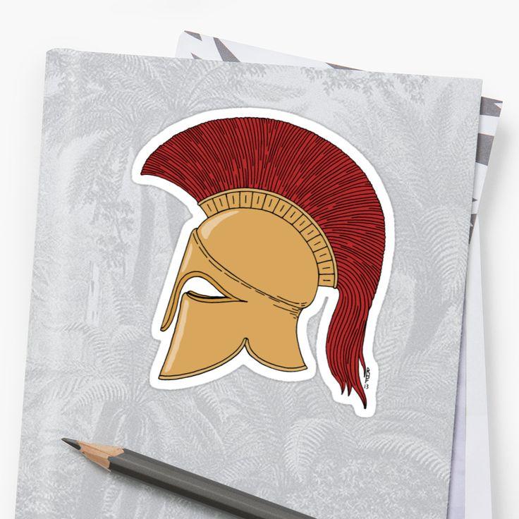 SOLD 9/5/2017 through Redbubble to a customer in the US: 1x Sticker of Corinthian Helmet, Size Small.   #Redbubble #sold #sticker #Corinthian_helmet #Greek_helmet  #ancient_helmet #bronze_helmet