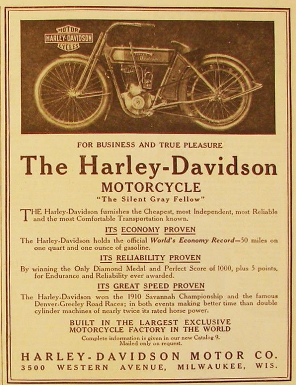 1912 Harley-Davidson -The motorcycle that is not uncomfortable.