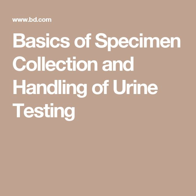 The Basics of Specimen Collection and Handling of Urine Testing