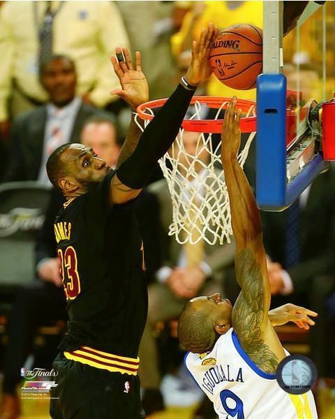 LEBRON JAMES THE BLOCK CLEVELAND CAVS 2016 NBA CHAMPIONS 8X10 LICENSED PHOTO #PHOTOFILE #ClevelandCavaliers