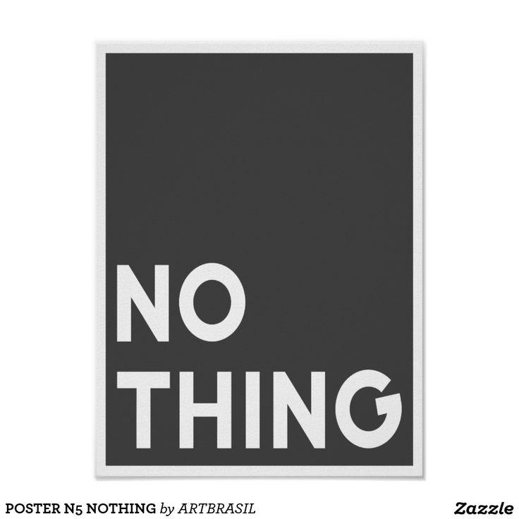 POSTER N5 NOTHING