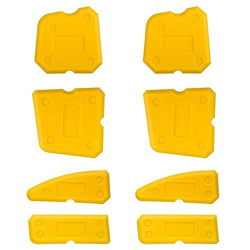 Bememo 8 Pieces Caulk Tool Kit Sealant Remover Scraper Caulk Finishing Tools for Joint Sealant Silicone Grout Removing Finishing, Yellow #Bememo #Pieces #Caulk #Tool #Sealant #Remover #Scraper #Finishing #Tools #Joint #Silicone #Grout #Removing #Finishing, #Yellow