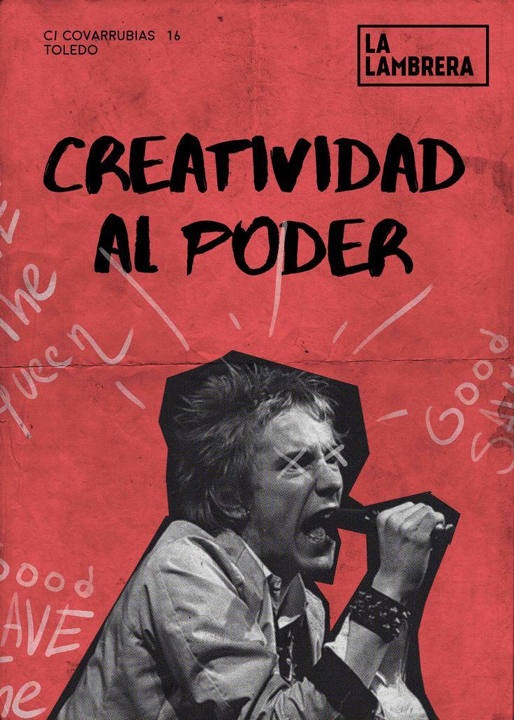 Este pin es parte de la imagen publicitaria del espacio creativo La Lambrera en Toledo Diseño de @rcovisa   #toledo #diseño #design #publicidadcreativa #publicidad #trabajo #work #rojo #collage #poster #cartel