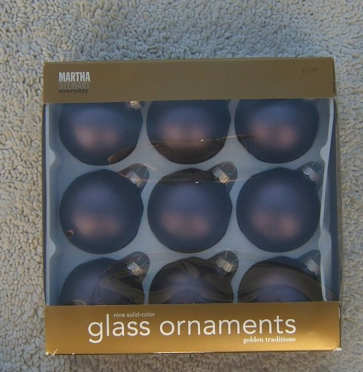 Martha Stewart Golden Traditions Everyday Glass Christmas Tree Ornaments 9 Matte #Ornaments