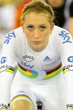 Laura Trott - one of the best women's cyclists ever.  Laura Trott, OBE is an elite level English track and road cyclist who specialises in the team pursuit and omnium disciplines. She is the inaugural Olympic champion in both events.  http://www.lauratrott.com/ Bicycles Love Girls