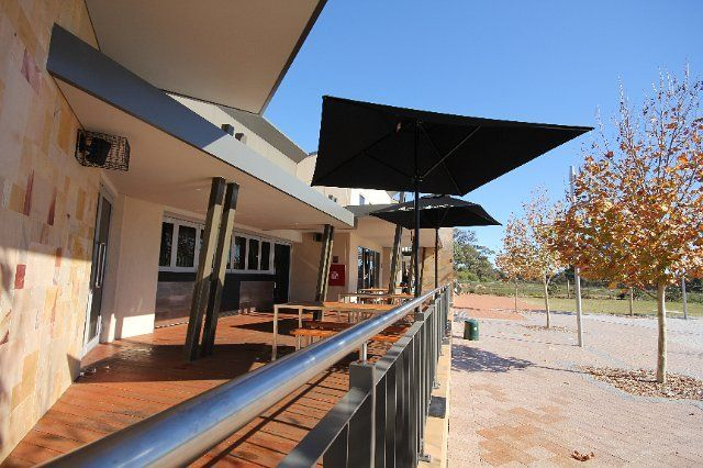 An example of our commercial outdoor blinds    Bozzy Shade Blinds Perth Australia