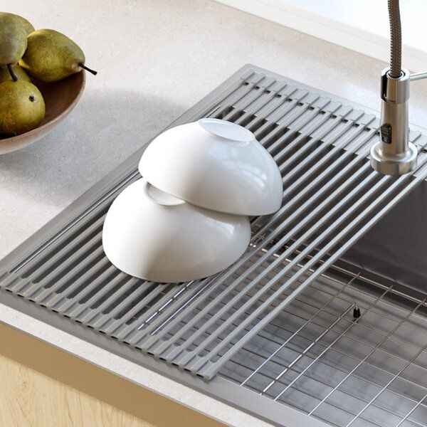 Stainless Steel Over The Sink Multipurpose Roll Up Drain Tray In