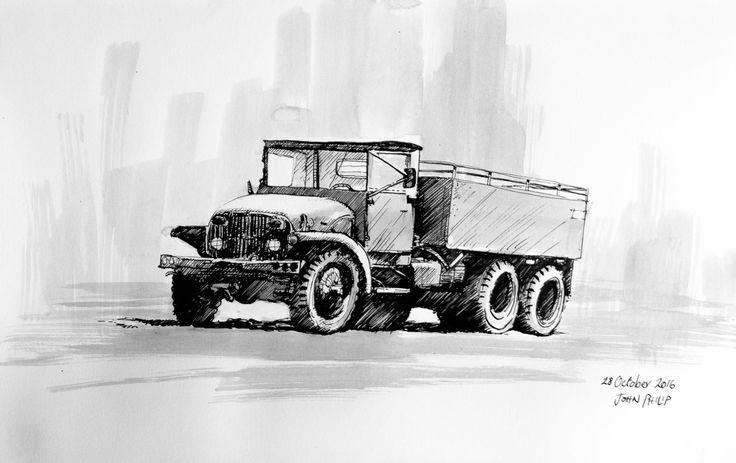 Day 28 - Truck in Ink #inktober #inktober2016 http://www.johnphilip.co.za/?p=1452