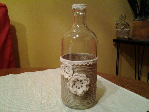 flasche dekoriert einmachgl ser und flaschen dekorieren pinterest glass. Black Bedroom Furniture Sets. Home Design Ideas