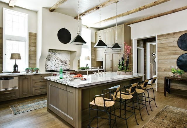 Good article on kitchen remodeling: Dreams Kitchens, Hoods, Interiors, Cabinets Color, Rustic Kitchens, Beth Webb, Islands, Atlanta Home, Woods Wall