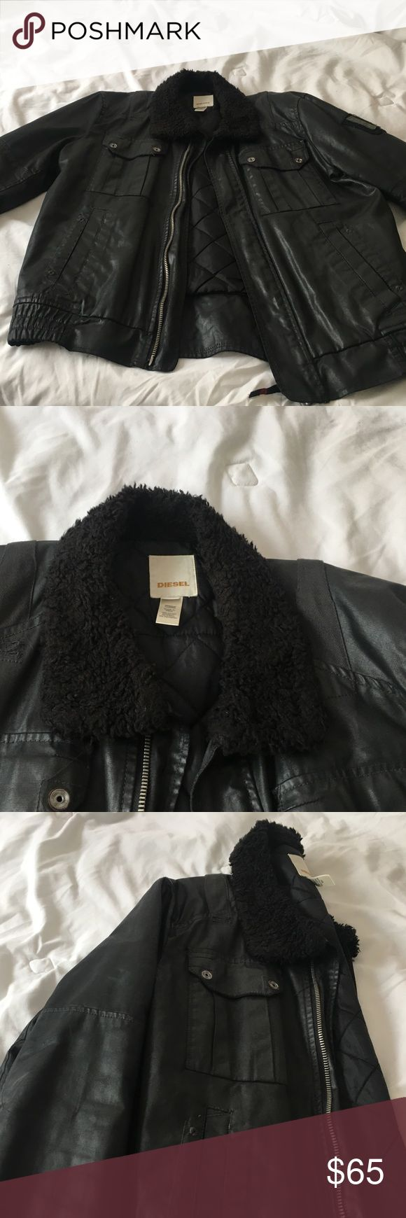 Diesel coat Very nice and warm. In great condition. Fits like a large/medium. Diesel Jackets & Coats