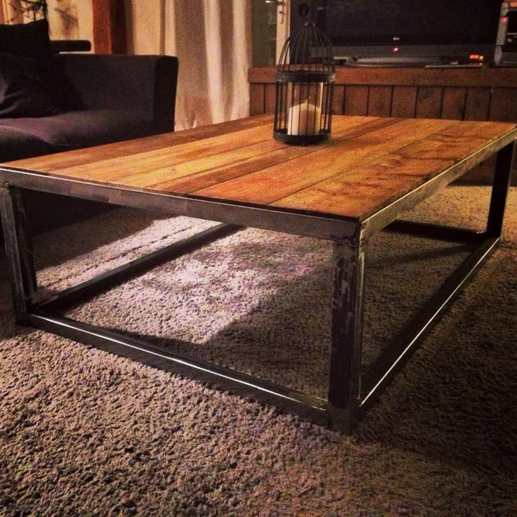 1000 ideas about table basse style industriel on - Table basse metal industriel loft ...