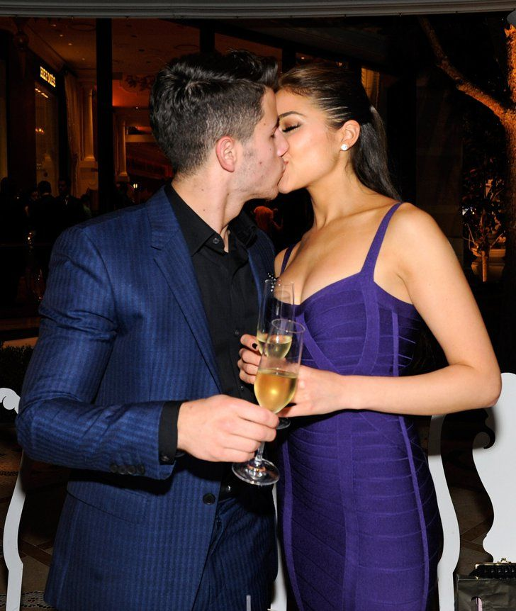 Pin for Later: A Look Back at Nick Jonas and Olivia Culpo's Sexy-Beautiful Relationship They sealed them with kisses.