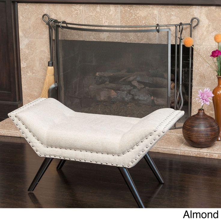 Rosalynn Tufted Fabric Ottoman/Bench by Christopher Knight Home (Rosalynn