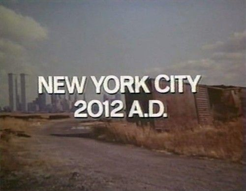 "The Ultimate Warrior 1975 — ""Atomic holocaust is not the only plague that threatens our future. New York City, 2012 A.D.""Staten Islands, Apocalypse Future, New York Cities, Film Screencaps, Cities Chic, Buildings, Twin Towers, Future Scifi, Apocalyps Future"