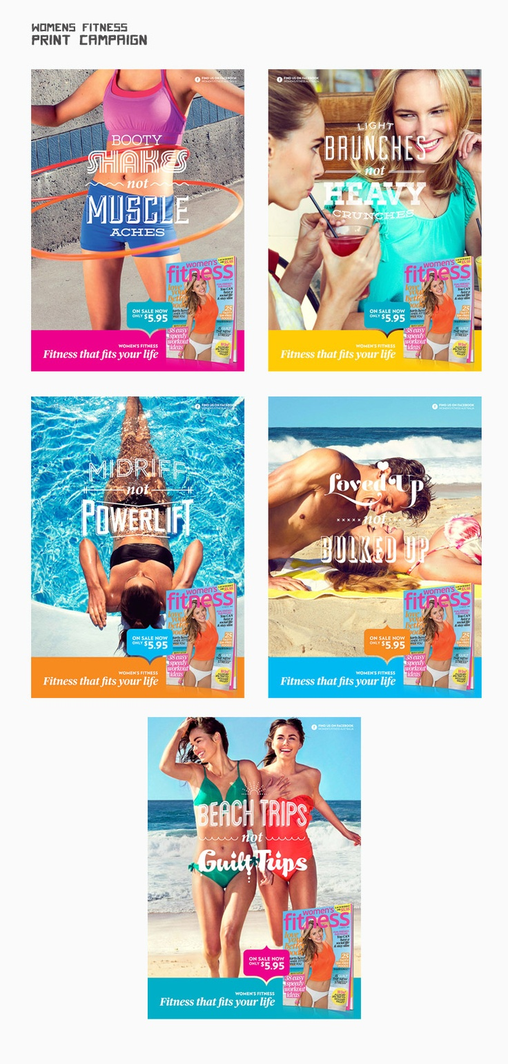 Women's Fitness - Print & Outdoor campaign - by griffinbox