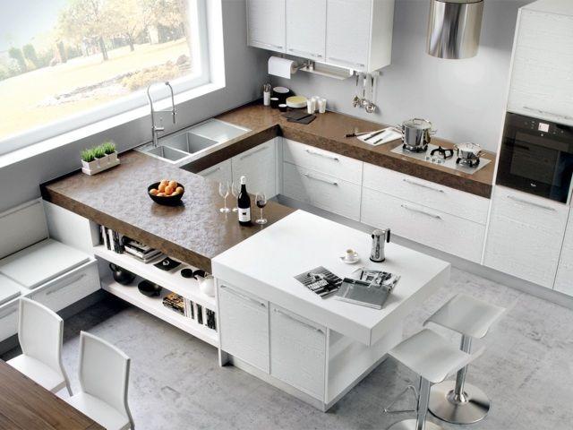 Die besten 25+ U küchen modern Ideen auf Pinterest Küche holz - moderne kuche mit wohnzimmer