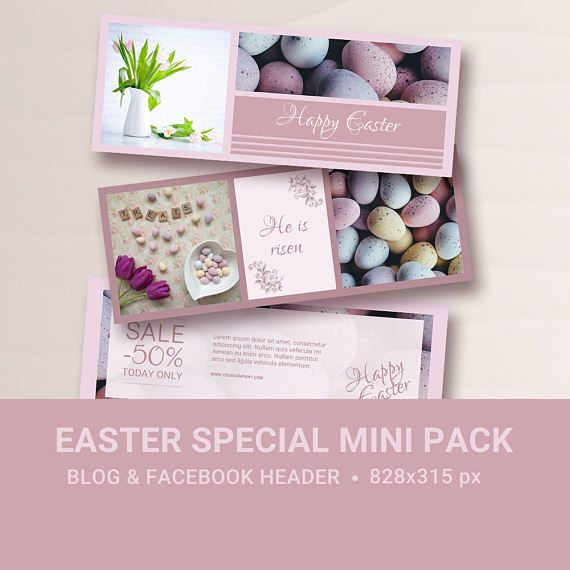 EASTER Special mini pack  Facebook timeline cover template