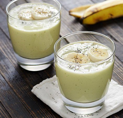 Banana Avocado Drink - Had this today with chocolate protein powder added and using almond milk ... yum.