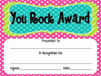 67 best awards recognition images on pinterest recognition cute you rock awards for student recognition and achievement yelopaper Gallery