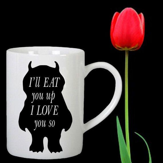 I'll Eat You Up I Love You So design for mug by Mbelgedes on Etsy