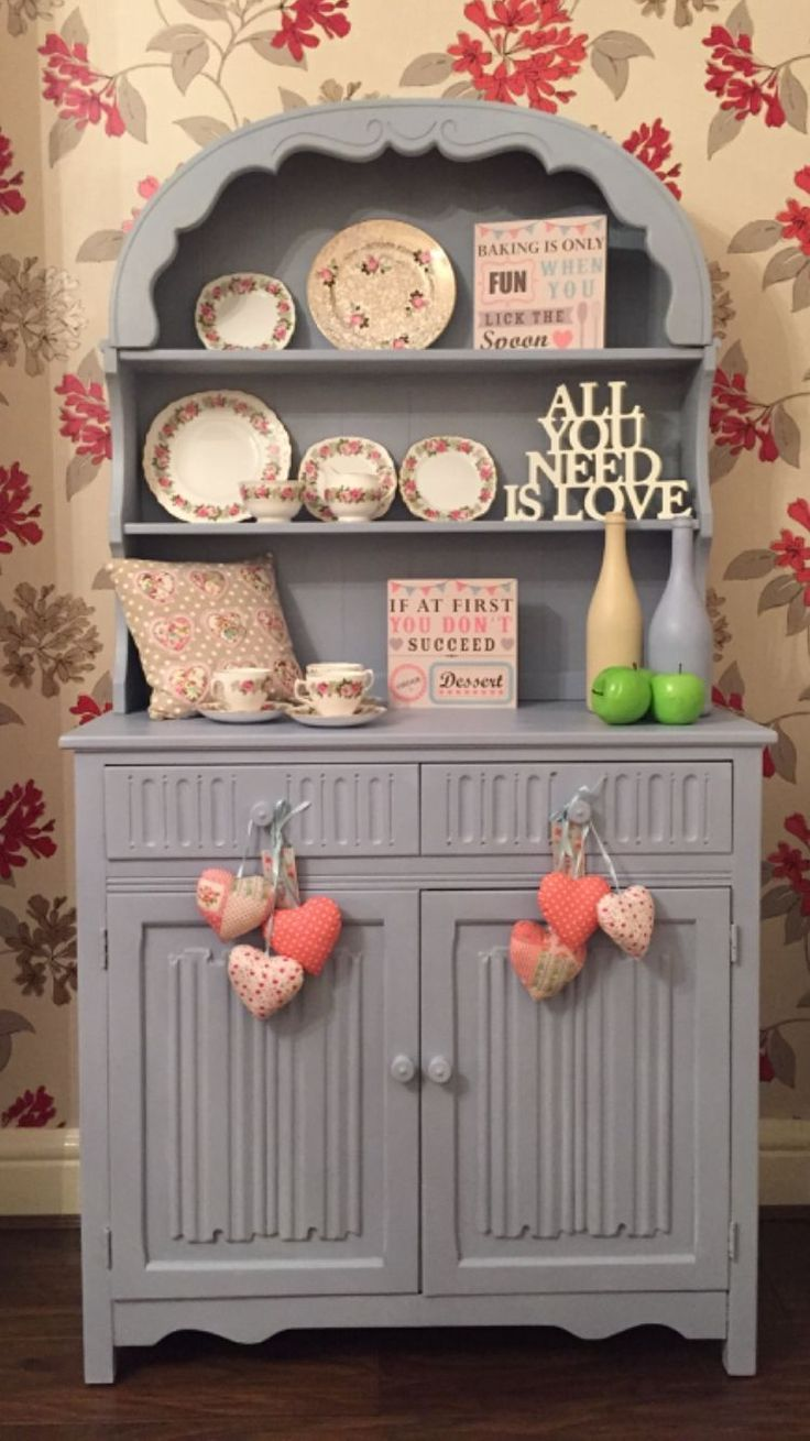 Lovely vintage shabby chic Dutch dresser by theshabbychiclook-uk. 165