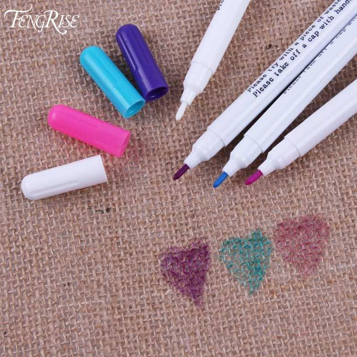 FENGRISE Sewing Accessories 1pc Patchwork Needlework Water Erasable Pens Fabric Markers Soluble Cross Stitch Chalk Tools Grommet