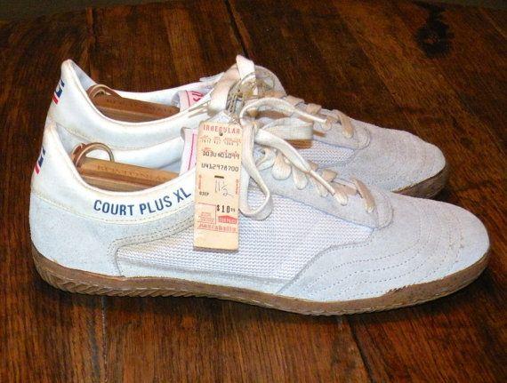 Mens Vintage Tennis Shoes, Deadstock 1980s SUGI Sneakers, Court Plus XL  Racquetball Squash Sneakers, Size 11 1/2