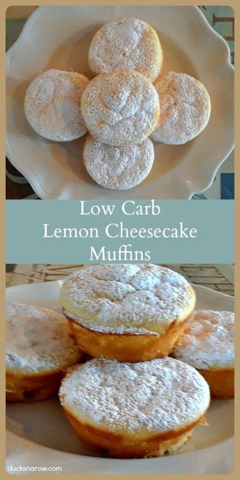 Melt-In-Your-Mouth Low Carb Lemon Cheesecake Muffins