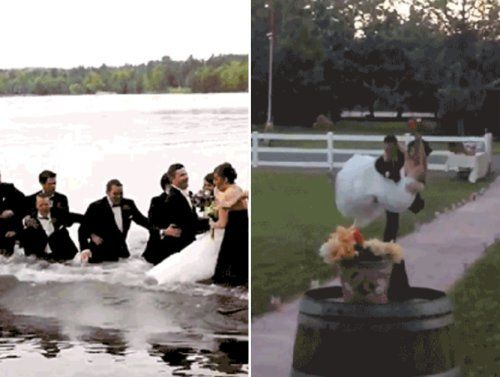 Wedding Fails: here comes the blushing  er bruising  bride (16 GIFs)