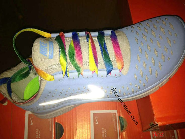d24a1bd04d55 ... Womens Nike Free 3.0 V4 Prism Blue Reflective Silver Sail Rainbow Lace  Shoes ...