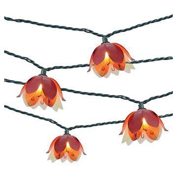 10ct Decorative String Lights-Metal Flower Cover - Threshold™